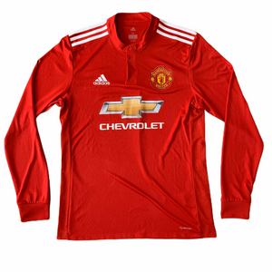 2017 18 MANCHESTER UNITED LS HOME FOOTBALL SHIRT - M