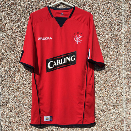 2004 2005 Rangers Third Football Shirt - M