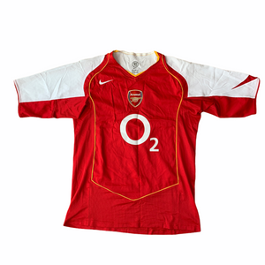 2004 05 ARSENAL HOME FOOTBALL SHIRT HENRY #14 - L