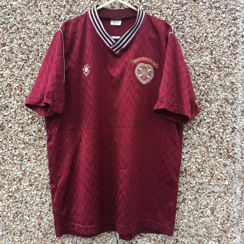 1988 1989 Heart of Midlothian home Football Shirt - L
