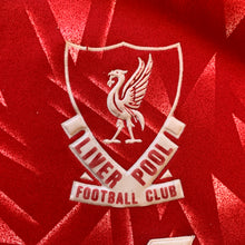 "1989 91 LIVERPOOL HOME FOOTBALL SHIRT - S (36-38"")"