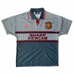 1995 96 MANCHESTER UNITED AWAY FOOTBALL SHIRT - XL