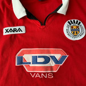 2000 01 ST MIRREN AWAY FOOTBALL SHIRT - L