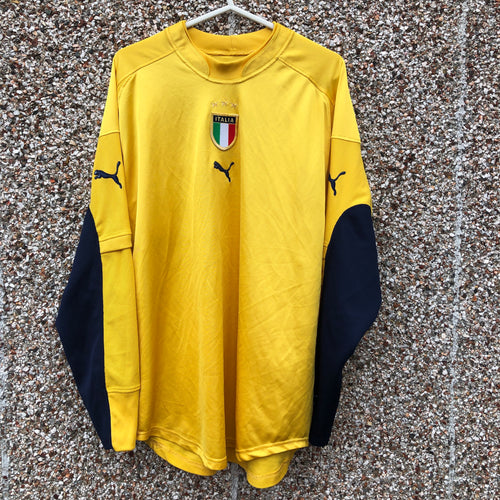 2004 2006 ITALY GOALKEEPER GK FOOTBALL SHIRT - L