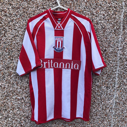 2001 2003 Stoke City home Football Shirt - S