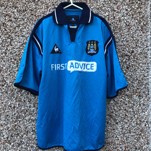 2001 2002 Manchester City home Football Shirt - M