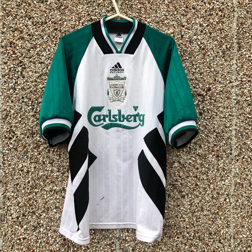 1993 1995 Liverpool Away Football Shirt - M/L