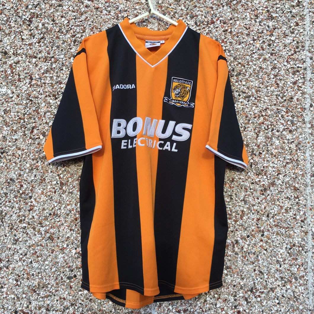 2004 2005 Hull City Home Football Shirt - S