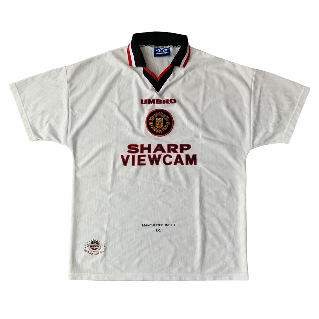 1996 97 MANCHESTER UNITED AWAY FOOTBALL SHIRT - L