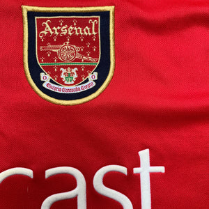 2000 02 ARSENAL HOME FOOTBALL SHIRT - L