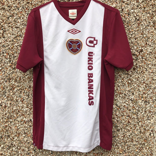 2010 2011 Heart of Midlothian home Football Shirt - M