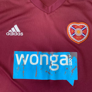 2012 13 HEART OF MIDLOTHIAN LS HOME FOOTBALL SHIRT - L