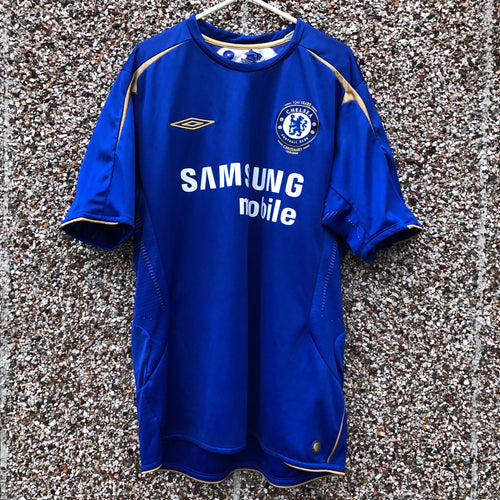2005 2006 CHELSEA CENTENARY HOME FOOTBALL SHIRT - L