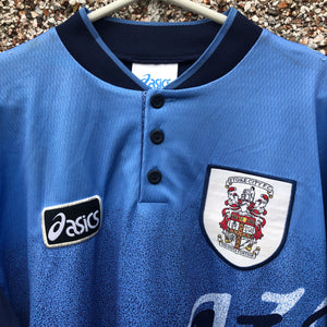 1996 97 STOKE CITY L/S AWAY FOOTBALL SHIRT - XL