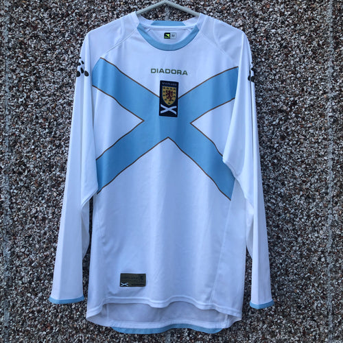 2007 2008 Scotland away L/S Football Shirt - M