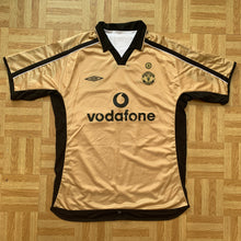 2001 02 MANCHESTER UNITED CENTENARY REVERSIBLE AWAY SHIRT (excellent)- L