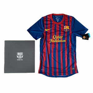 2011 12 BARCELONA PLAYER ISSIE HOME PROMO TEE BOX FOOTBALL SHIRT MESSI #10 *BNWT* - S