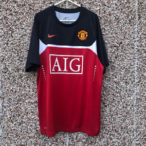 2009 2010 MANCHESTER UNITED TRAINING SHIRT - M
