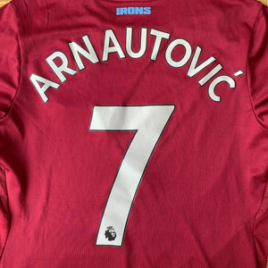 2018 19 WEST HAM UNITED HOME FOOTBALL SHIRT #7 ARNAUTOVIC - S