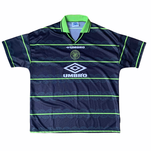 1998 99 CELTIC LS AWAY FOOTBALL SHIRT - XXL