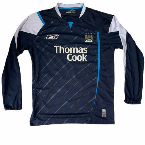 2005 2006 MANCHESTER CITY L/S AWAY FOOTBALL SHIRT - M