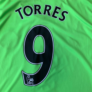 2010 11 CHELSEA L/S THIRD FOOTBALL SHIRT #9 TORRES - L