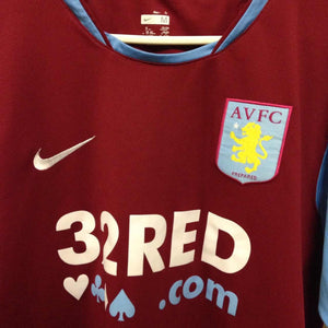 2007 2008 Aston Villa home Football Shirt - M