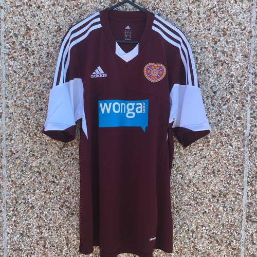 2013 2014 Heart of Midlothian home Football Shirt - L