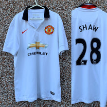 2014 2015 MANCHESTER UNITED AWAY FOOTBALL SHIRT #28 SHAW - L
