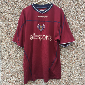 2002 2004 Heart of Midlothian home Football Shirt - M