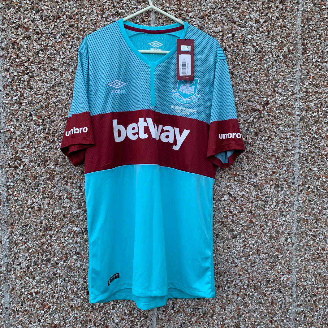 2015 16 WEST HAM UNITRD 'BOLEYN' AWAY FOOTBALLSHIRT - M