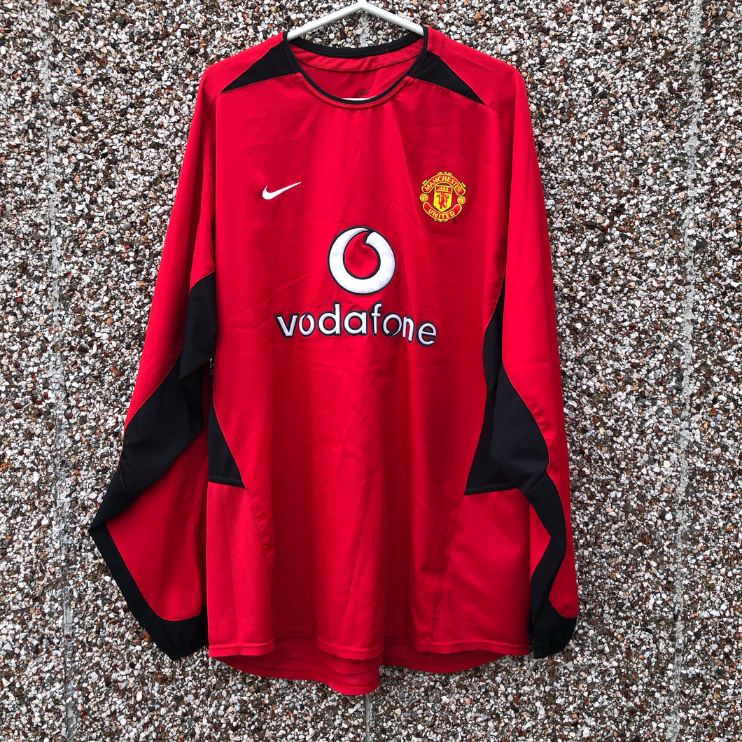 2002 2004 Manchester United home Football Shirt L/S - XL