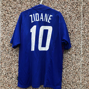 2002 2004 France home football shirt ZIDANE #10 - L