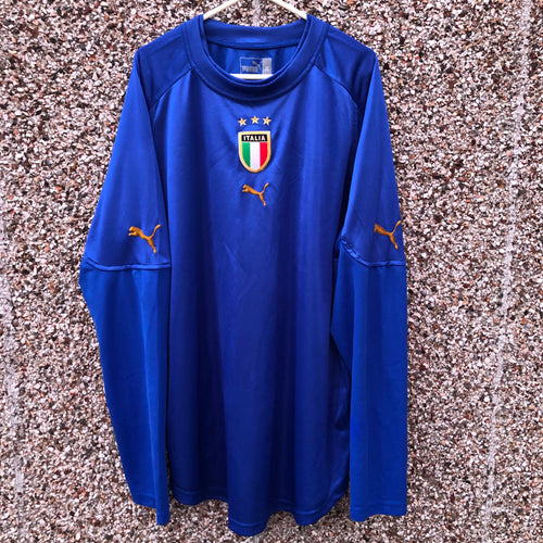 2004 2006 Italy home L/S football shirt - XL