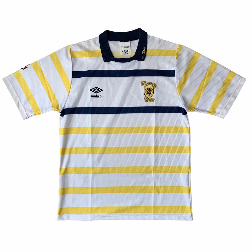 1988 91 SCOTLAND AWAY FOOTBALL SHIRT - S