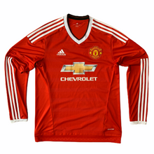 2015 16 MANCHESTER UNITED L/S HOME FOOTBALL SHIRT *NWOT - M