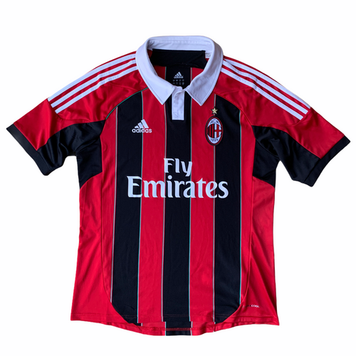2012 13 AC MILAN HOME FOOTBALL SHIRT - L