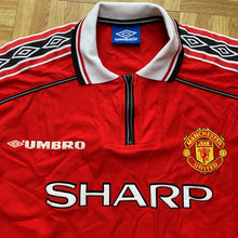1998 00 MANCHESTER UNITED HOME FOOTBALL SHIRT - L