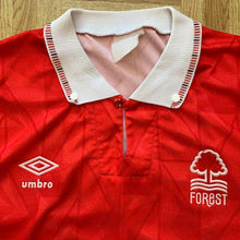 1990 1992 NOTTINGHAM FOREST HOME FOOTBALL SHIRT - S