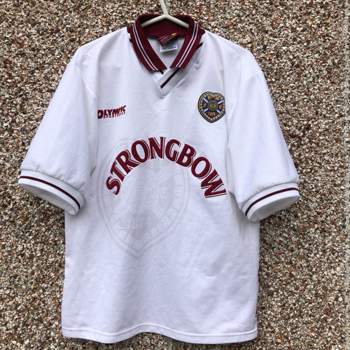 1997 1998 Heart of Midlothian away Football Shirt - M