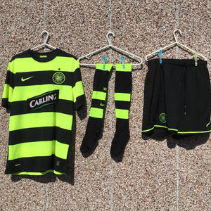 2009 2011 Celtic Football Shirt Kit Strip - M