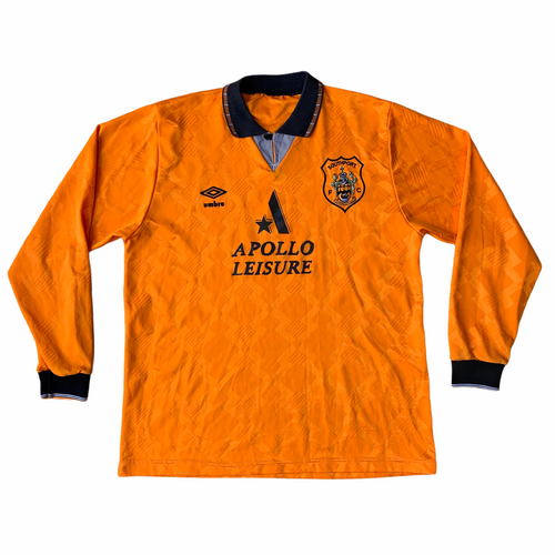 1992 93 SOUTHPORT LONG SLEEVED HOME FOOTBALL SHIRT - M/L