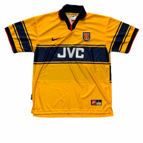 1997 99 ARSENAL AWAY FOOTBALL SHIRT - L
