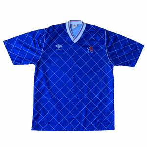 1987 89 CHELSEA HOME FOOTBALL SHIRT - L