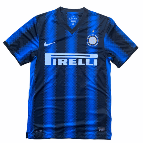 2010 11 INTER MILAN HOME FOOTBALL SHIRT - S