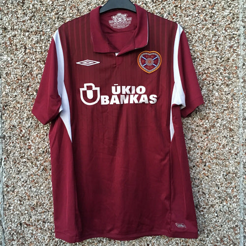 2009 2010 Heart of Midlothian Football Shirt - L