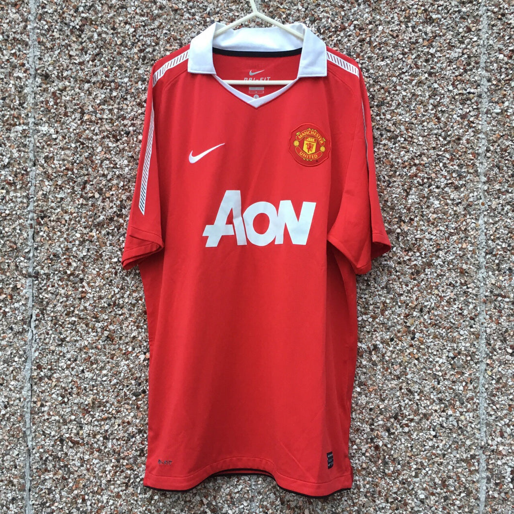 2010 2011 Manchester United home Football Shirt - L
