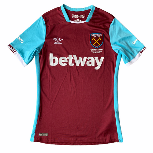 2016 17 WEST HAM HOME FOOTBALL SHIRT - S