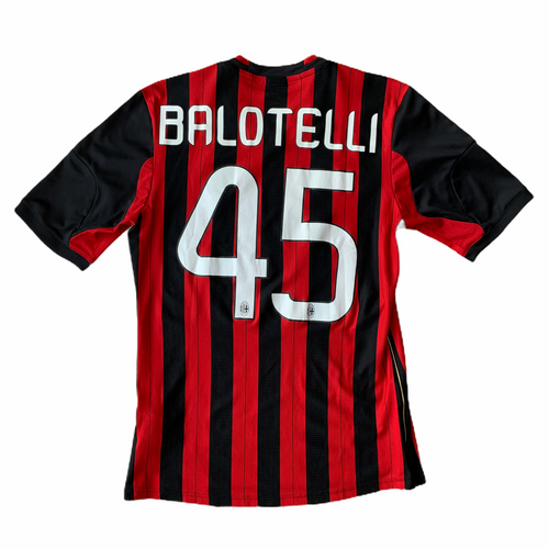 2013 14 AC MILAN HOME FOOTBALL SHIRT #45 BALOTELLI - S