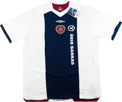 2008 09 HEART OF MIDLOTHIAN AWAY FOOTBALL SHIRT *BNIB* - XXL
